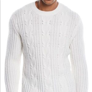 Ermenegildo Zegna sweater in cable-knit cashmere M